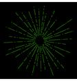 Sun Burst Retro Style vector image