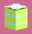 sweet dessert in flat design piece of cake vector image