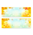 Enjoy autumn sales banners with colorful leaves vector