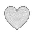 heart icon hand drawn like fingerprint print vector image