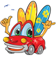 travel car cartoon vector image