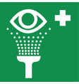Eye Wash Safety Sign vector image