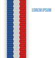 Colorful Seamless Ribbon Isolated on white vector image