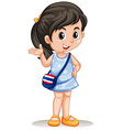 Thai girl greeting and smiling vector image