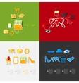 Set of sticker design Online shopping concept vector image vector image