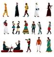 Eastern People Set vector image