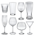 Opaque empty glasses vector image vector image