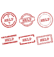 Help stamps vector image vector image