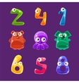 Numbers Shaped Animals And Other Jelly Creatures vector image