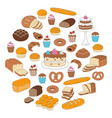 bakery and pastry collection doodle vector image