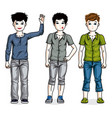 beautiful little boys cute children standing vector image