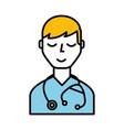 doctor character cartoon vector image