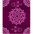 Ornament purple abstract vector image