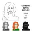 readhead woman icon in cartoon style isolated on vector image