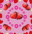 seamless pattern with pink hearts for Valentines D vector image