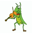 Insects with violin t-shirt design vector image