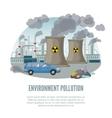 Cartoon Environmental Pollution Template vector image