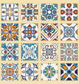 set of portuguese tiles collection of colored vector image