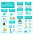 Pharmacist Infographic Set vector image