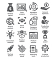 Startup business and development icons vector image