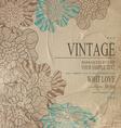 Brown congratulation vintage background vector image