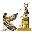 egyptian national drawing vector image