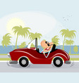 funny man driving vector image