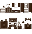 furniture sets eps10 vector image