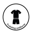 Icon of Fitness uniform vector image