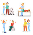 medical rehabilitation physical therapy healing vector image