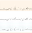 montreal hand drawn skyline vector image