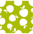 Pattern Silhouette Apples vector image