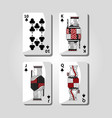 poker casino cards playing club design vector image
