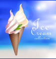 realistic sundae ice cream concept vector image