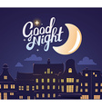 silhouette of close up night city landsca vector image