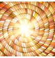Sun and orange Colored Rope in spiral vector image