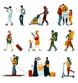 Touristic People Set vector image