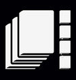 white book icons pictograms vector image