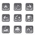 Web navigation buttons set vector image vector image