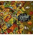 Cartoon picnic doodle vector image
