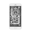 modern smartphone with different steampunk vintage vector image