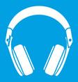 Headphones icon white vector image