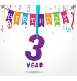 birthday celebration greeting card design vector image
