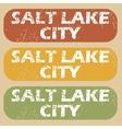 Vintage Salt Lake City stamps vector image