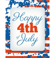 Happy 4th of July card national american holiday vector image