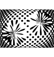 Optical monochrome abstract background vector image
