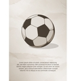 Soccer football ball Vintage Label Logo Frame vector image