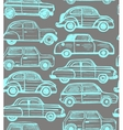 seamless dark background with retro cars vector image