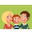 Happy family cartoon vector image