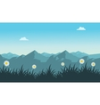 Landscape of mountain at spring vector image